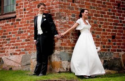 brudpar vid Vendel kyrka