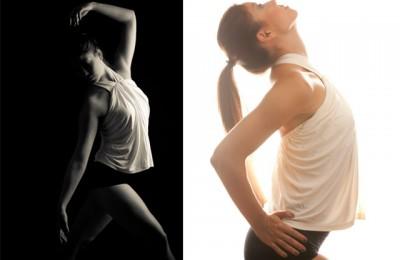 dansare Lisa Karm i fotostudio