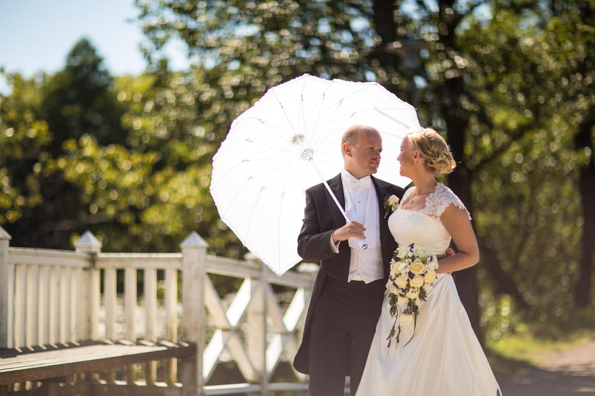 bröllopsparaply som parasol